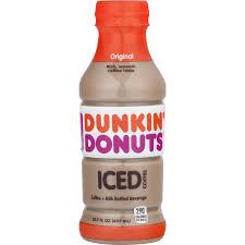 Dunkin Donuts Original Iced Coffee 137 Fl Oz Bottle