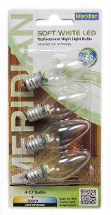 13141m led c7 replacement bulbs clear 4 pack