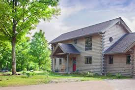 Log Home Stain A Touch of Gray