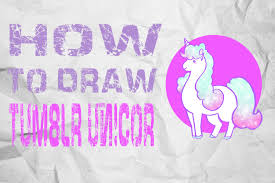 How To Draw TUMBLR UNICORN EASY AND FAST