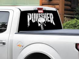 Product: Punisher Logo Marvel Comics Rear Window Decal Sticker Pick ... Window Decals For Trucks New Show Me Your Rear Decalsstickers American Flag Full Decal Fits 52018 Chevy Colorado Amazoncom Vuscapes 763szd Chevy Black Bkg Truck Car Graphics Allen Signs Impala Windshield Or And 50 Similar Items Me Your Rear Window Decalsstickers Page 76 Ford F150 Forum Distressed Vintage Graphic Auto Motors Intertional Moose Suv Funny Cat Wiper Body Stickers High Beam Scary Reflective For Dt17 Black Best In Calgary Cars Resource