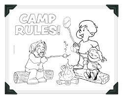 Guildcraft Camp Rules Coloring Sheet With Frame