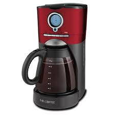 Mr CoffeeR Performance Brew 12 Cup Programmable Coffee Maker Red Stainless Black
