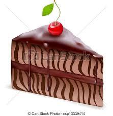 German Chocolate Cake Clipart 1