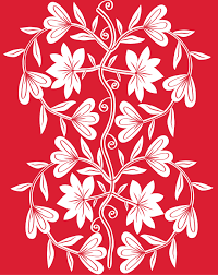 Chinese Paper Cutting Flowers Society6 Tshirt
