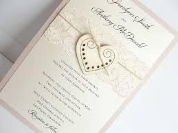 Heart Wedding Invitation Glitter Invite Wood Rustic Vintage