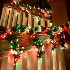 Red Green Clear Garland Christmas LIghts Red And Lights On Modern ... Home Depot Bannister How To Hang Garland On Your Banister Summer Christmas Deck The Halls With Beautiful West Cobb Magazine 12 Creative Decorating Ideas Banisters Bank Account Season Decorate For Stunning The Staircase 45 Of Creating Custom Youtube For Cbid Home Decor And Design Christmas Garlands Diy Village Singular Photos Baby Nursery Inspiring Stockings Were Hung Part Adams