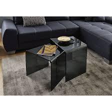 design beistelltisch couchtisch glastisch bento 3 grau b 52x t 40x h 41cm