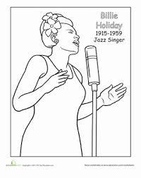 First Grade Holidays Seasons Worksheets Billie Holiday Coloring Page