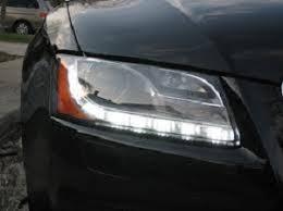 audi a5 2007 12 up h7 bi xenon headlights with led refurbishe