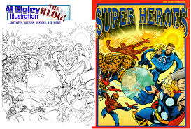 More Marvel Superheroes Coloring Book Cover Art