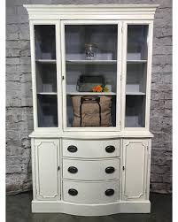 Farmhouse China Cabinet Hutch Buffet Sideboard Dining Room