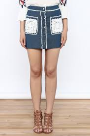 endless rose button down denim skirt from texas by chic u0027tique