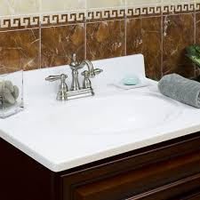 18 Inch Deep Bathroom Vanity Top by 19 X 17 Cultured Marble Vanity Top With 4 Inches Faucet Spread
