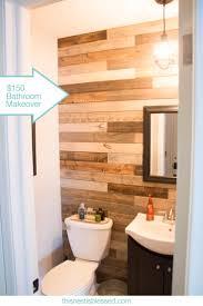 Half Bath Theme Ideas by Best 25 Plank Wall Bathroom Ideas On Pinterest Plank Walls