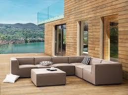 lounge gartenmöbel set amarillo gartensofa modular sitzgruppe gartenlounge sofa für garten terrasse balkon loungemöbel beige