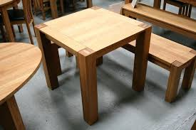 Oak Kitchen Table With Bench Painted Dining Shaped Modern Wood