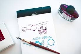 Blue Pumpkin Nib by Pilot Iroshizuku Yama Budo Ink Bottled Thoughts