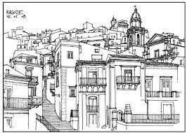 Drawing Of A Village In France