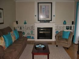 Teal Living Room Walls by Teal And Tan Living Room Living Room In Teal And Chocolate Brown