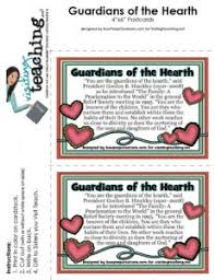 Visiting Teaching Blog Archive Guardians 4x6 Card