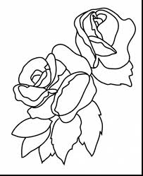 Fabulous Flowers And Roses Coloring Pages With