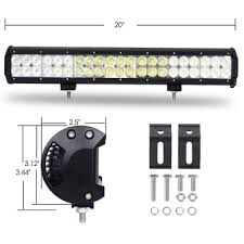 20 inch road led light bar cree led 126w 30 degree spot 60