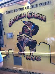 FOOD TRUCK FRIDAY : Gorilla Cheese NYC. – Reservationfor0ne Nyc Food Truck Archives By Karra Grilled Cheese Truck On Twitter Hi Were Here Grille Official Website Order Online Direct Tasty Eating Gorilla Food Stock Photos Images Alamy 11 Fantastic New York City Trucks For Every Kind Of Meal Eater Ny Kosher Sushi Hits The Streets That Fires Worker After Tipshaming Wall Street Firm An Guide To Best Around Urbanmatter Nyc
