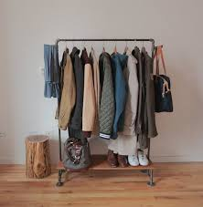 Wardrobe Racks Clothing Rack Tumblr How To Build A Clothes With Wood Industrial Cothing