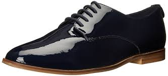 Dune London Womens Flossy Oxford Navy Patent Shoes Lace Up Flatsdune Boots SaleQuality Design