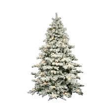 Slim Flocked Artificial Christmas Trees by Ft Pre Lit Christmas Tree Shop Vickerman Alaskan Pine Flocked