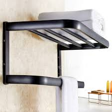 Bathroom Wall Cabinets With Towel Bar by Style Black Oil Rubbed Bronze Bathroom Wall Shelves