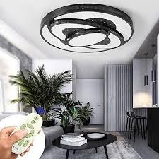 led deckenleuchte 60w dimmbar schwarz deckenle wohnzimmer le modern deckenleuchten kueche badezimmer flur schlafzimmer