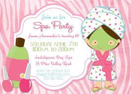 Free Printable Spa Party Invit Invitations Enjoy Invitation Design Kids
