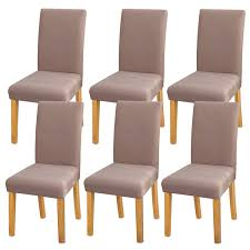 YISUN Modern Stretch Dining Chair Covers Removable Washable Spandex  Slipcovers For High Chairs 4/6 PCs Chair Protective Covers (Light  Tan/Jacquard ... Sonnis Pack Of 4 Stretch Chair Coverschair Slipcovers Washable Removable Seat Covers Elastic Protector Chairs For Hotel Restaurant Wedding Teresting Chair Cover Chaircovers Make It Subrtex Square Knit Ding Room Good 5 Sherborne Recliner Ipirations No Corner Spandex Banquet Cover Orange Z Mid Century Modern By For Sale Cushions Surprising Faux Leather Fabric Shorty Rooms Budge Neverwet Hillside 49 In H X 28 W 27 D Tan Black And Chairbarstool Jf From Pillowcases Jackiehouchin Home Ideas Instantly Add Flair Style To Your Kitchen Or Ding Room With