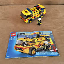 100 Lego Fire Truck Instructions 7891 City Airport Yellow Complete Town Square Firetruck