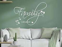grazdesign wandtattoo familie family mit spruch und herzen
