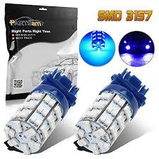partsam 1pair blue 3156 3157 backup light 3357 4057 3155
