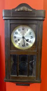 100 Mauthe A Original No 202 Wall Clock In Oak Case 52x25cm