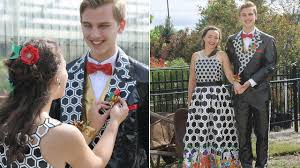 how this high couple made duct tape for prom youtube