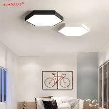 led decke leuchtet moderne le nordic einfache hexagonal decke le studie wohnzimmer schlafzimmer wohnzimmer beleuchtung