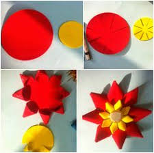 Art Craft Ideas And Bulletin Boards For Elementary Schools 3D Flower Tutorial
