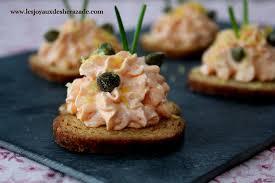 canapés saumon fumé toast apéritif crème au saumon fumé les joyaux de sherazade