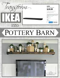 Turn An Ikea Shelf Into A Pottery Barn Ledge   Remodelaholic ... Media Armoire Abolishrmcom Painted Media Cabinet Bookshelf Styling Honey Were Home Blue White Personalized Living Room Makeovbeforeafter Cool Industrial Consoles For Your Ideas Also Clerks Console Pottery Barn Tv Lift Eertainment Center On Modern Magnificent Fniture Ana Dawsen Diy Projects The Pinterest Oui Bien Sur Page 58 Tables Nl Table Parquet Au Beauty And Greek But First Let Me Take A Shelfie Remodelaholic Building Plans