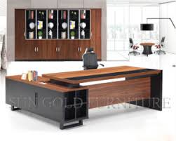 china hotsale malaysia office table design black modern ceo desk