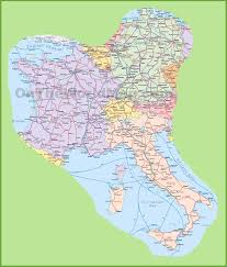 Map Of Germany And Switzerland With Cities Italy France