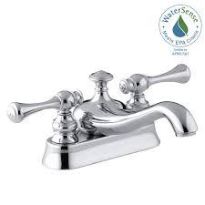 kohler revival 4 in centerset 2 handle low arc water saving