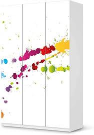 creatisto möbel folie passend für ikea pax schrank 236 cm höhe 3 türen i möbelfolie möbel sticker aufkleber i deko ideen wohnung für