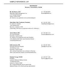 100 How To List References In A Resume On On