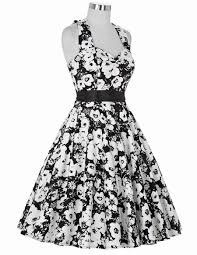 real picture 50s rockabilly dresses floral print retro vintage 60s